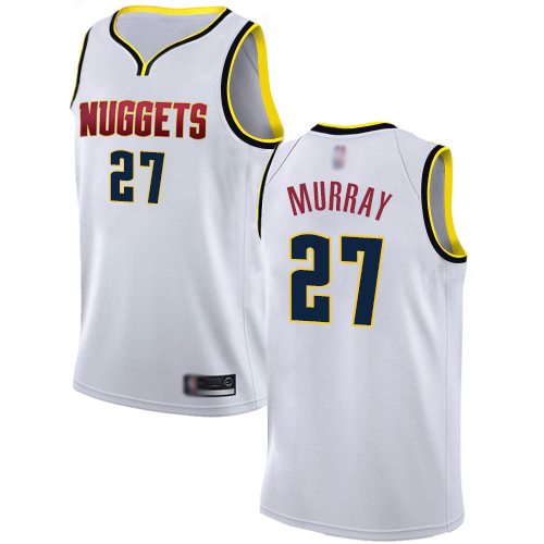 Authentic Women's Jamal Murray White Jersey - #27 Basketball Denver Nuggets Association Edition