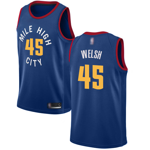 Authentic Women's Thomas Welsh Blue Jersey - #45 Basketball Denver Nuggets Statement Edition