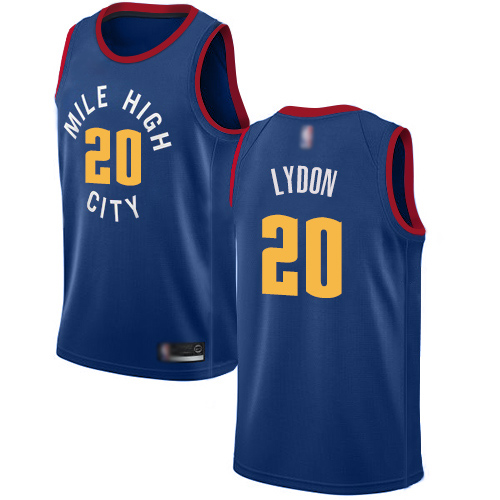 Authentic Men's Tyler Lydon Blue Jersey - #20 Basketball Denver Nuggets Statement Edition