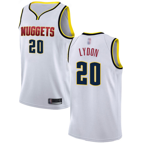 Authentic Women's Tyler Lydon White Jersey - #20 Basketball Denver Nuggets Association Edition
