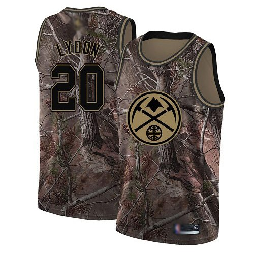 Swingman Women's Tyler Lydon Camo Jersey - #20 Basketball Denver Nuggets Realtree Collection